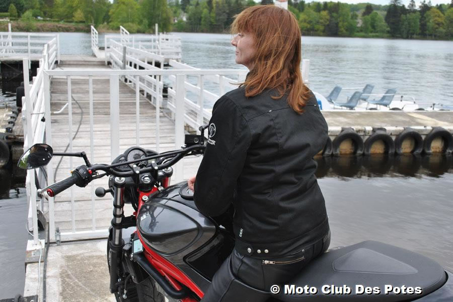 Blouson moto femme bering lady bikini